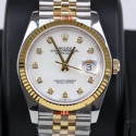 Replica Rolex Datejust 36MM 116233 GM Stainless Steel 904L & Yellow Gold White Dial Swiss 2824-2