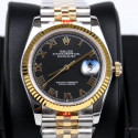 Replica Rolex Datejust 36MM 116233 GM Stainless Steel 904L & Yellow Gold Black Dial Swiss 2824-2