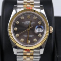 Replica Rolex Datejust 36MM 116233 GM Stainless Steel 904L & Yellow Gold Anthracite Dial Swiss 2824-2