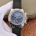Replica Rolex Daytona Cosmograph 116519LN Noob V2 Stainless Steel 904L Blue Dial Swiss 4130 Run 6@SEC