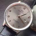 Replica IWC Portuguese Stainless Steel Gray Dial Rose Gold Markers Swiss IWC 89000