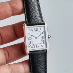 Replica Cartier Tank Solo Ladies 31MM WSTA0030 AF Stainless Steel Silver Dial Swiss Ronda Quartz
