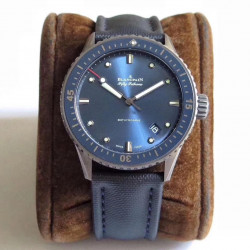 Replica Blancpain Fifty Fathoms Bathyscaphe 5000-0240-O52A ZF Ceramic Shiny Blue Dial Swiss 1315