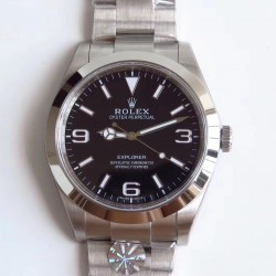 Replica Rolex Explorer 214270 AR Stainless Steel 904L Black Dial Swiss 3132