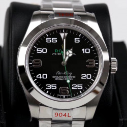 Replica Rolex Air-King 116900 GM Stainless Steel 904L Black Dial Swiss 2836-2