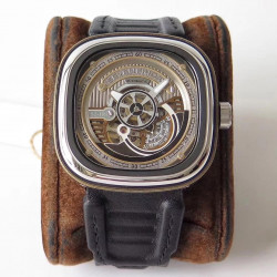 Replica SevenFriday S2/01 SV Stainless Steel Silver Dial Miyota 82S5