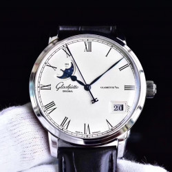 Replica Glashutte Senator Panorama Date Moon Phase 100-04-32-12-04 GF Stainless Steel White Dial Swiss 100-04