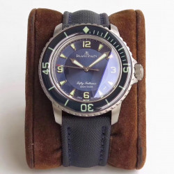 Replica Blancpain Fifty Fathoms 5015 12B40 O52 ZF Titanium Blue Dial Swiss 1315
