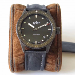 Replica Blancpain Fifty Fathoms Bathyscaphe 5000-0130-B52A ZF Ceramic Black Dial Swiss 1315