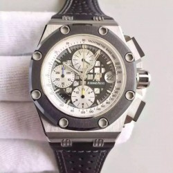 Replica Audemars Piguet Royal Oak Offshore Rubens Barrichello II 26078IO.OO.D001VS.01 JF V2 Titanium Black Dial Swiss 3126