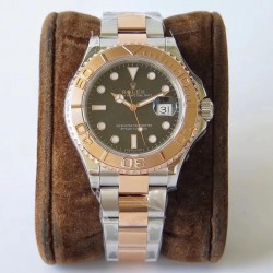 Replica Rolex Yacht-Master 40 116621 VR Stainless Steel & Rose Gold Black Dial Swiss 2836-2