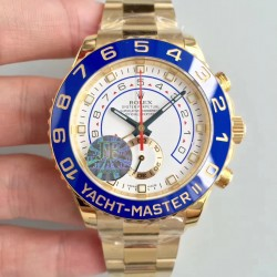 Replica Rolex Yacht-Master II 116688 JF Yellow Gold White Dial Swiss 7750