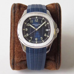 Replica Patek Philippe Aquanaut 5168G-001 ZF Stainless Steel Blue Dial Swiss 324SC
