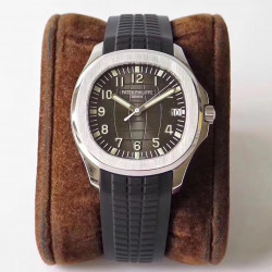 Replica Patek Philippe Aquanaut Jumbo 5167A-001 ZF Stainless Steel Brown Dial Swiss 324SC