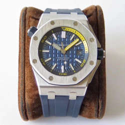 Replica Audemars Piguet Royal Oak Offshore Diver 15710ST.OO.A027CA.01 JF V8 Stainless Steel Blue Dial Swiss 3120