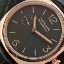 Replica Panerai Radiomir PAM 439 Rose Gold Black Dial Swiss P999