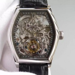 Replica Vacheron Constantin Malte Tourbillon Stainless Steel Skeleton & Black Dial Swiss Tourbillon