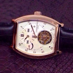 Replica Vacheron Constantin Malte Tourbillon Regulator Rose Gold White Dial Swiss Tourbillon