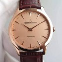 Replica Jaeger-LeCoultre Master Ultra Thin Rose Gold Gold Dial Swiss JLC 898C