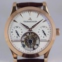 Replica Jaeger-LeCoultre Master Grande Tradition Tourbillon Rose Gold White Dial Swiss Tourbillon