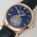 Replica Jaeger-LeCoultre Master Ultra Thin Tourbillon Rose Gold Black Dial Swiss Tourbillon