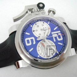 Replica Graham Chronofighter Oversize Stainless Steel Blue & White Dial Swiss 7750
