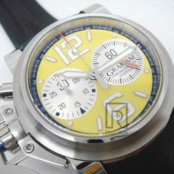 Replica Graham Chronofighter Oversize Stainless Steel Yellow Dial Swiss 7750
