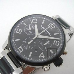 Replica Montblanc Timewalker Chronograph Stainless Steel Black Dial Swiss 7750
