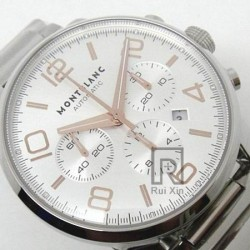 Replica Montblanc Timewalker Chronograph Stainless Steel Rose Gold Markers White Dial Swiss 7750