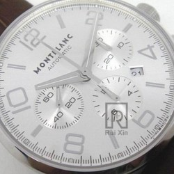 Replica Montblanc Timewalker Chronograph Stainless Steel Stainless Steel Markers White Dial Swiss 7750