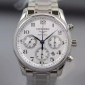 Replica Longines Master Collection Chronograph Stainless Steel White Dial Swiss 7750