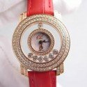Replica Chopard Happy Diamonds Ladies Rose Gold Pink/White/Numbers Dial Swiss Quartz