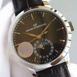 Replica Girard Perregaux 1966 Stainless Steel Black Dial Swiss GP 033MO