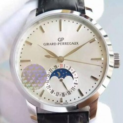 Replica Girard Perregaux 1966 Stainless Steel White Dial Swiss GP 033MO