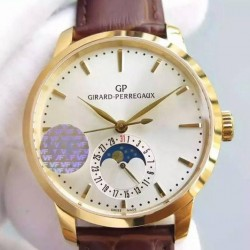 Replica Girard Perregaux 1966 Yellow Gold White Dial Swiss GP 033MO