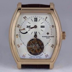 Replica Vacheron Constantin Malte Tourbillon Regulator 24K Gold Plated White Dial Swiss Tourbillon