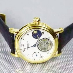 Replica Patek Philippe Grand Complication Tourbillon 18K Yellow Gold Plated White Dial Swiss Tourbillon