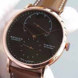 Replica Nomos Lambda Rose Gold Black Dial German DUW 1001