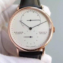 Replica Nomos Lambda Rose Gold White Dial German DUW 1001