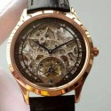 Replica Jaeger-LeCoultre Master Ultra Thin Tourbillon Rose Gold Black & Skeleton Dial Swiss Tourbillon
