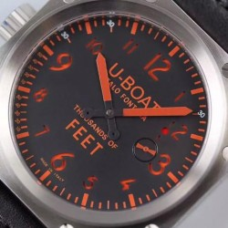Replica U-Boat Thousands Of Feet 1918 Stainless Steel Black & Red Dial Swiss 6497