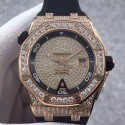 Replica Audemars Piguet Royal Oak Offshore Diver 15709 Rose Gold & Diamonds Rose Gold & Diamonds Dial Swiss 3120