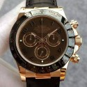 Replica Rolex Daytona Cosmograph 116515LN JH Rose Gold Brown Dial Swiss 4130 Run 6@SEC