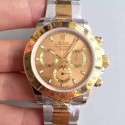 Replica Rolex Daytona Cosmograph 116503 JH Yellow Gold & Stainless Steel Gold Dial Swiss 4130 Run 6@SEC