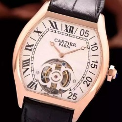 Replica Cartier tortue RG/LE Swiss Real Tourbillon