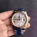Replica Rolex Day-Date 116233 36MM V5 Stainless Steel & Yellow Gold White Dial Swiss 2836-2