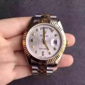 Replica Rolex Day-Date 116233 36MM V5 Stainless Steel & Yellow Gold White Rolex Dial Swiss 2836-2