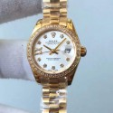 Replica Rolex Lady Datejust 28 279138RBR 28MM Yellow Gold & Diamonds White Dial Swiss 2671