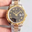 Replica Rolex Datejust 41 126333 41MM NF Stainless Steel & Yellow Gold Black & Roman Dial Swiss 2836-2