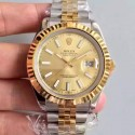 Replica Rolex Datejust 41 126333 41MM NF Stainless Steel & Yellow Gold Champagne Dial Swiss 2836-2
